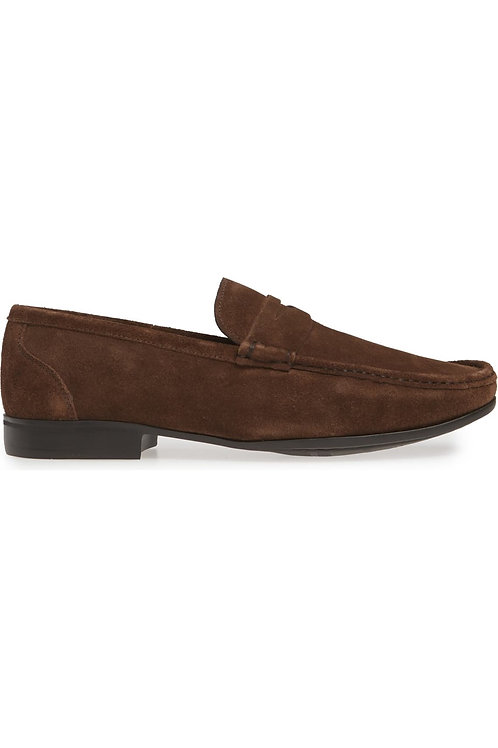 Peter Millar Hyperlight Suede Penny Loafer- Brown