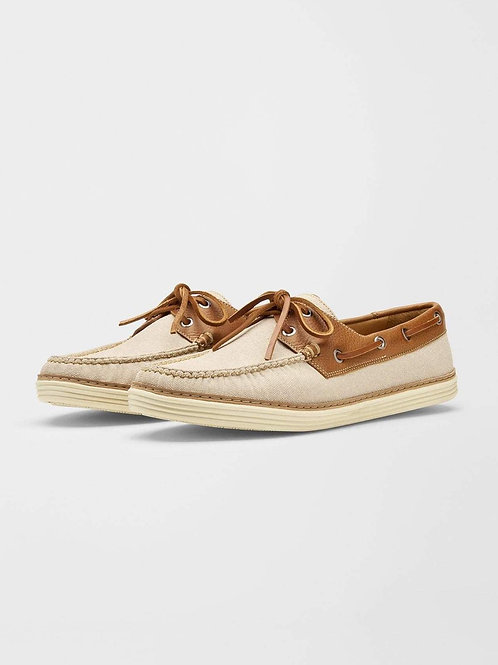 Peter Millar Canvas Boat Shoes
