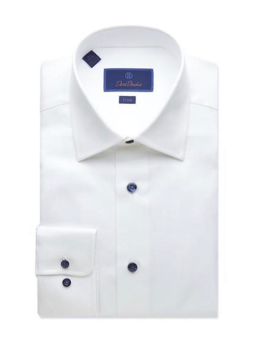 David Donahue Micro Textured Dress Shirt