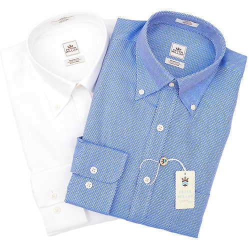 Peter Millar Solid Oxford Sport Shirt