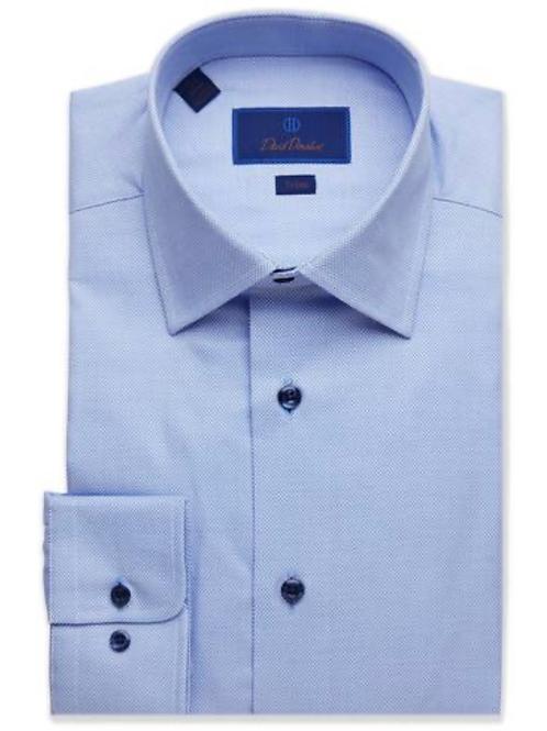 David Donahue Textured Dobby Dress Shirt