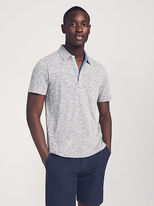 Faherty Brand Heather Polo