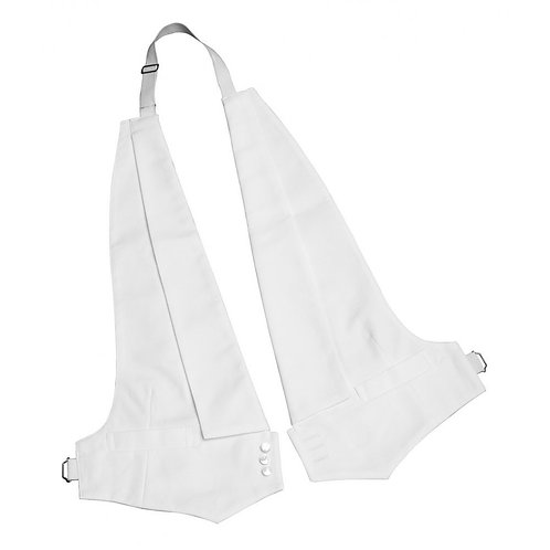 White Cotton Pique Vest