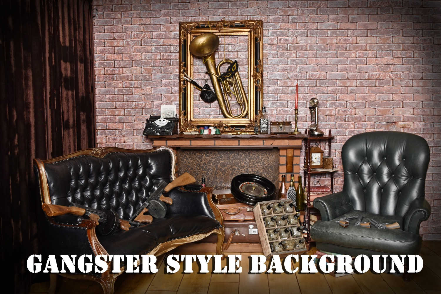 Gangster style background