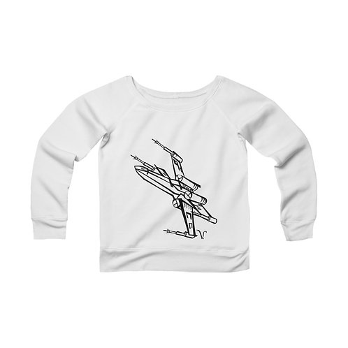 X-Wing Fighter [1] Women's Wide Neck Sweatshirt
