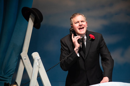 Miles Jupp in The Life I Lead, Design by Lee Newby. Photo: Target Live