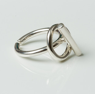 Silver ring 'Rattle'