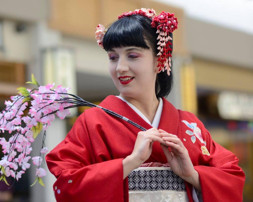 Vystoupení japonského tance - Sakura, sakura