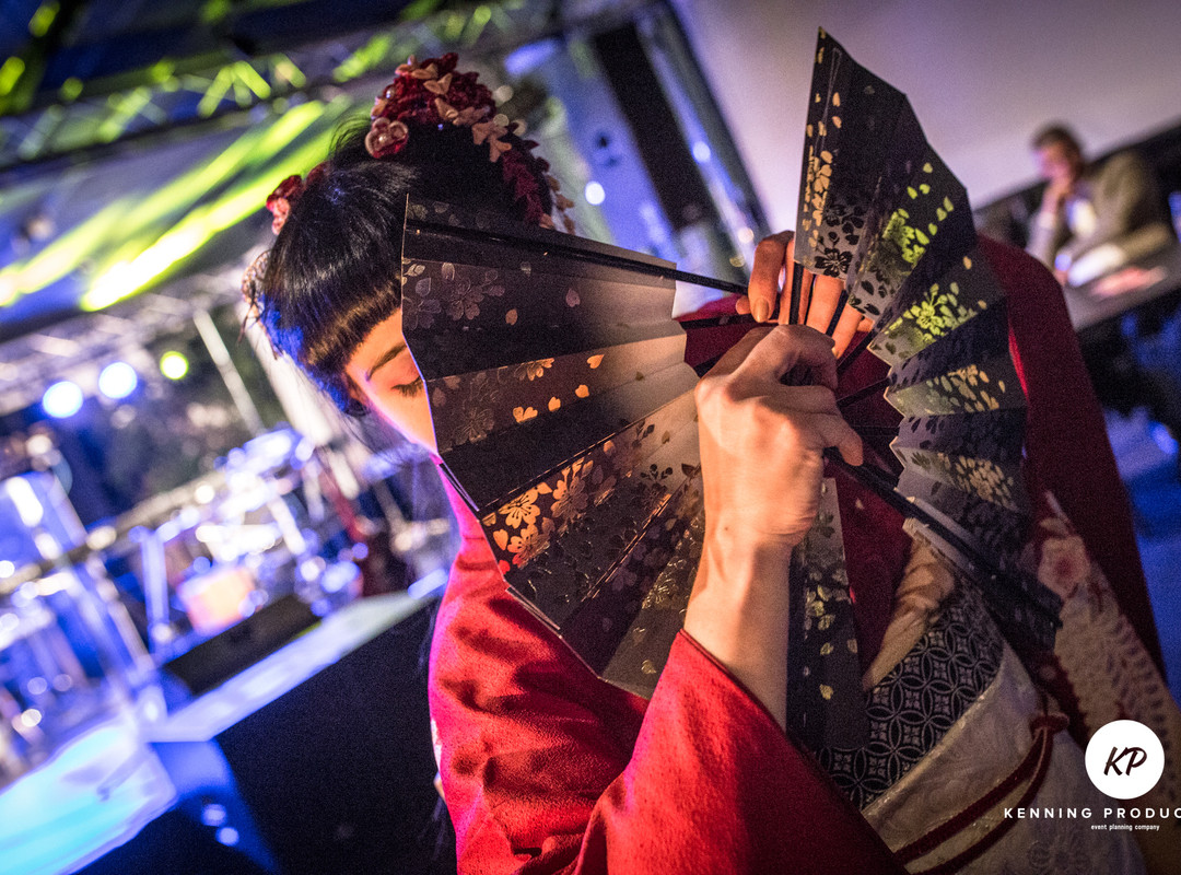 Vystoupení japonského tance - firemní večírek