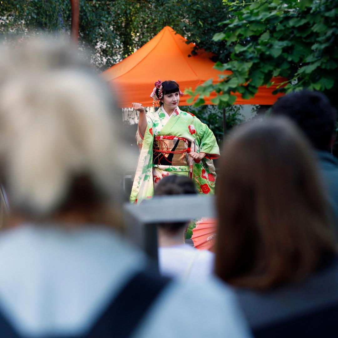 Vystoupení japonského tance - Japonský festival