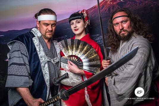 Japonsko geisha a samurajove hitachi pan