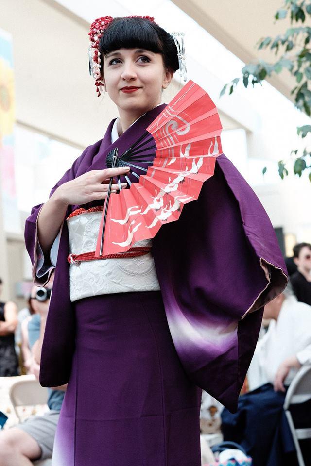 Vystoupení tradičního japonského tance