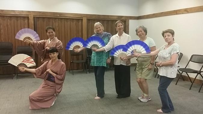 Japonský taneční workshop školy Fujima