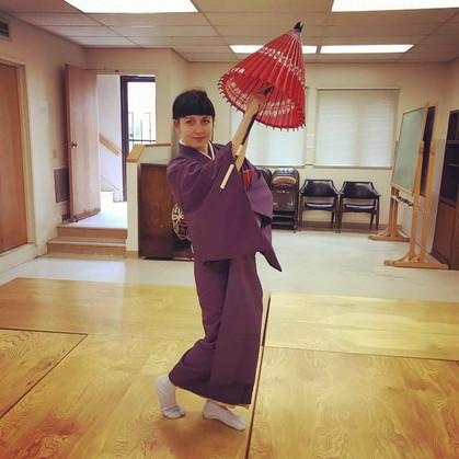 Nihon buyo classes with Nishikawa sensei