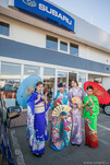 Tanečnice v kimonech