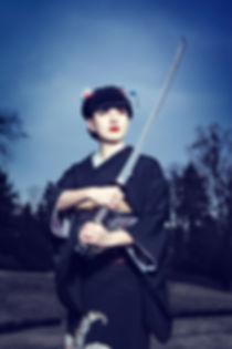Japanee dancer, sword dance
