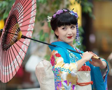 Tanečnice japonského tance Ajna Kenning