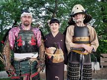 Samurais at Tetsuro Shimaguchi show