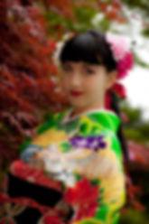 Kimono girl, geisha dance