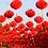 Thumbnail: Lampion papírový červený 15cm/ typ harmonika