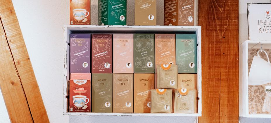 Tee-Auswahl