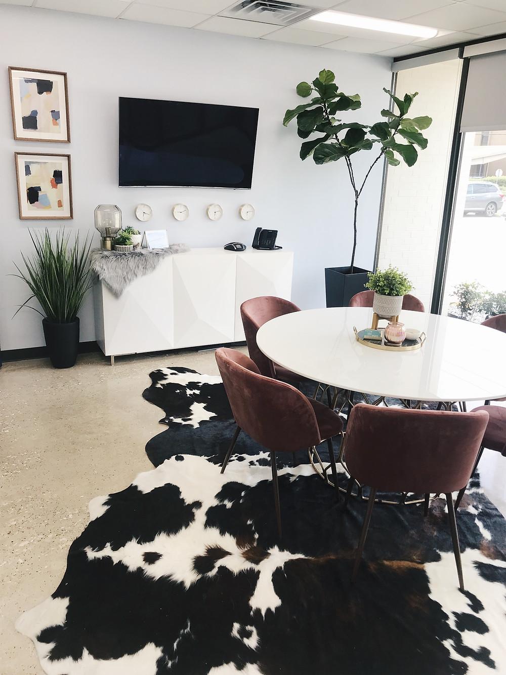 Best Hospice - cowhide rug