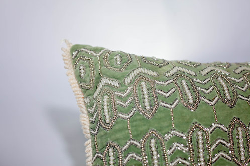 Beaded Throw Pillow