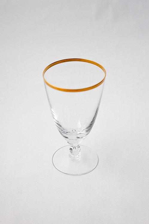Gold Rim Stem Glass - Set of 4