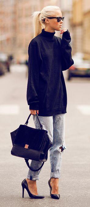 Boyfriend Jeans & Heels