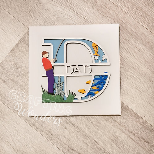 Personalised Fishing canvas