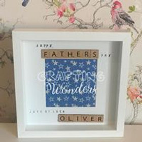 personalised best father frame