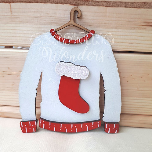 Christmas Jumper Stocking Decoration