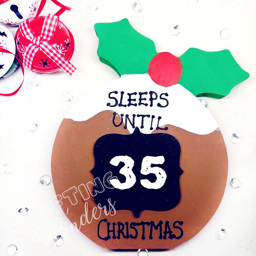 Christmas Pudding Countdown to Christmas