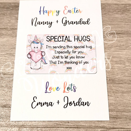 Unicorn Special Hug Card