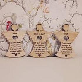 Engraved hanging tree memory angels