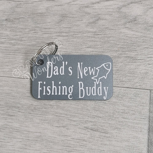 Dad Fishing Keyrings