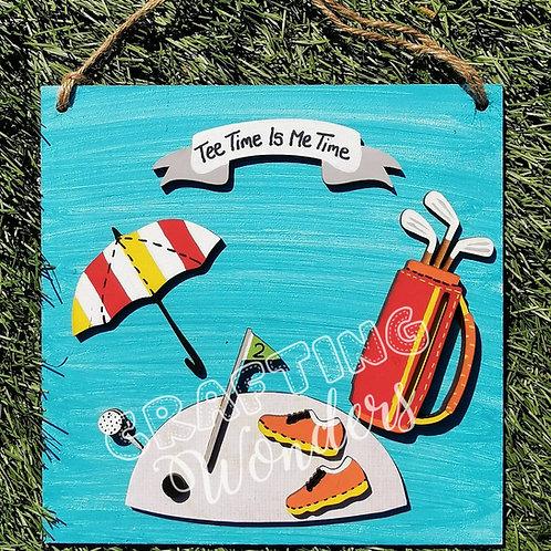 Golf Hanging Plaque