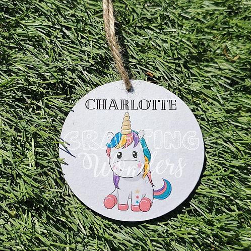 Personalised Unicorn Tag