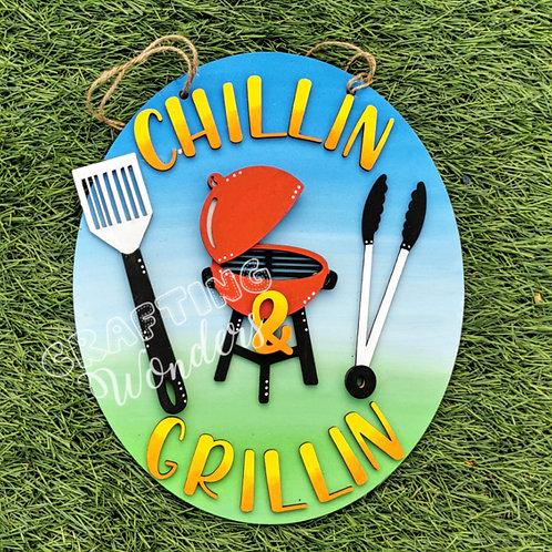 Bbq chillin n grillin plaque