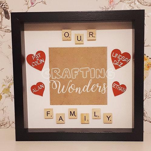 Family Love Heart Frame