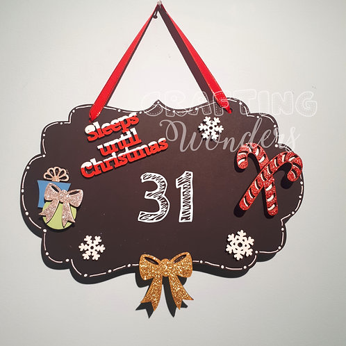Countdown to christmas chalk plaques