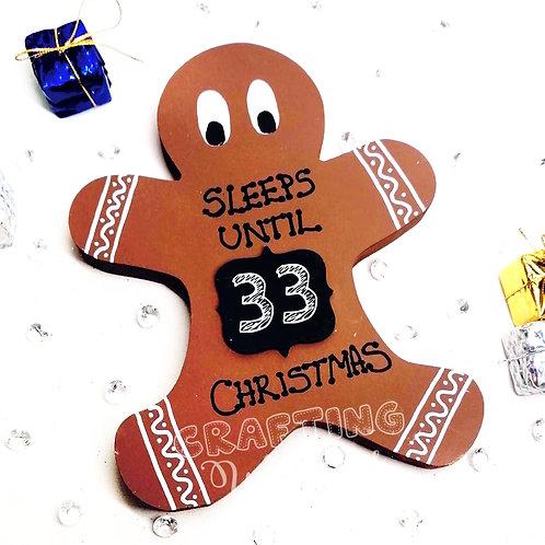 Gingerbread man countdown to christmas