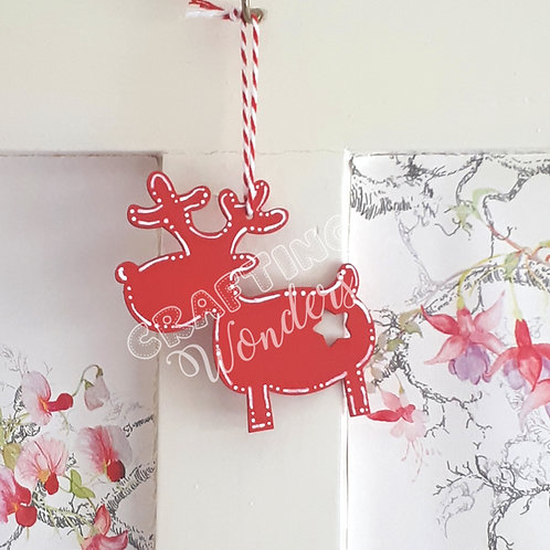 Personalised Hanging Reindeer