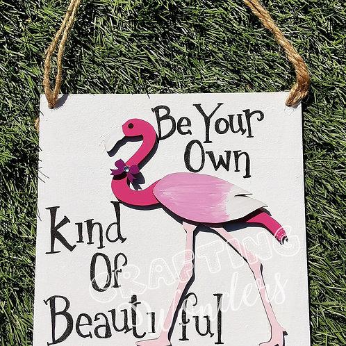 Beautiful flamingo plaque