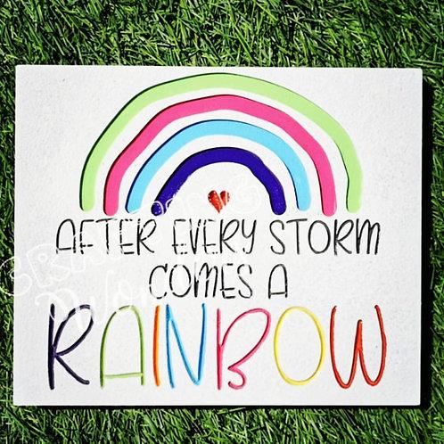 Freestanding Rainbow Plaque