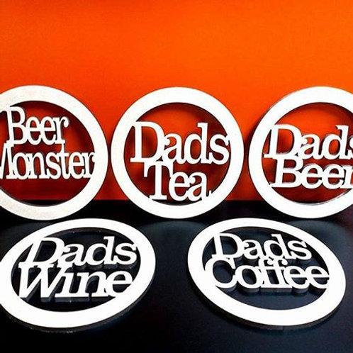Dad/Mum coaster
