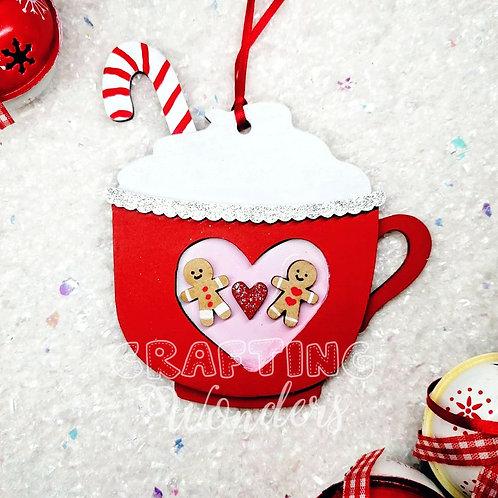 Gingerbread hot chocolate mug bauble