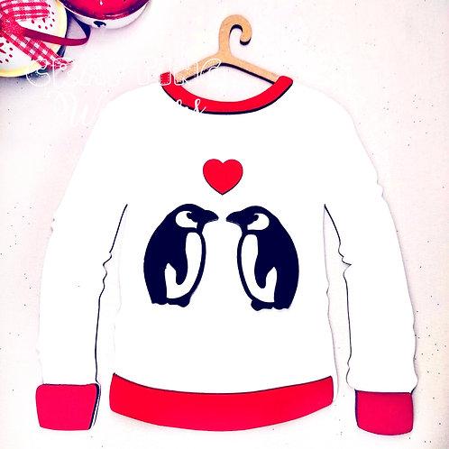 Penguin Christmas Jumper Decoration