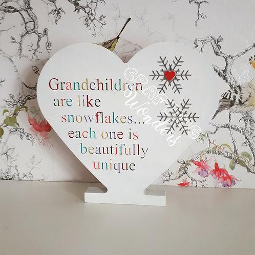 Freestanding Grandchildren Plaque