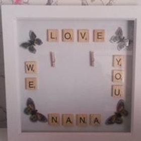 we love you nana frame
